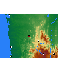 Nearby Forecast Locations - Kurunegala - Map