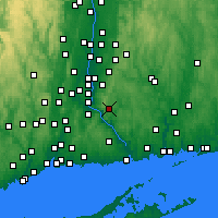Nearby Forecast Locations - East Hampton - Map