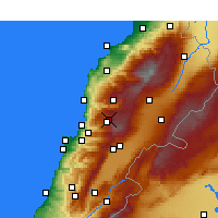 Nearby Forecast Locations - Fâraïya - Map